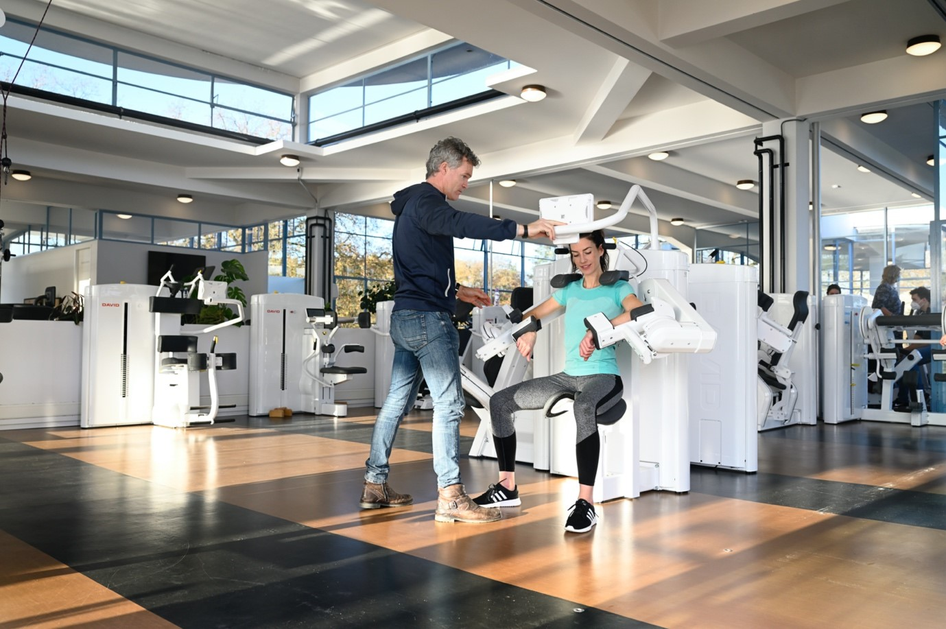 shoulder rehabilitation technology at OREC physical therapy center
